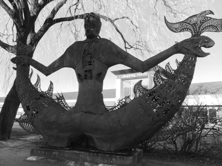 Fisherman statue 1