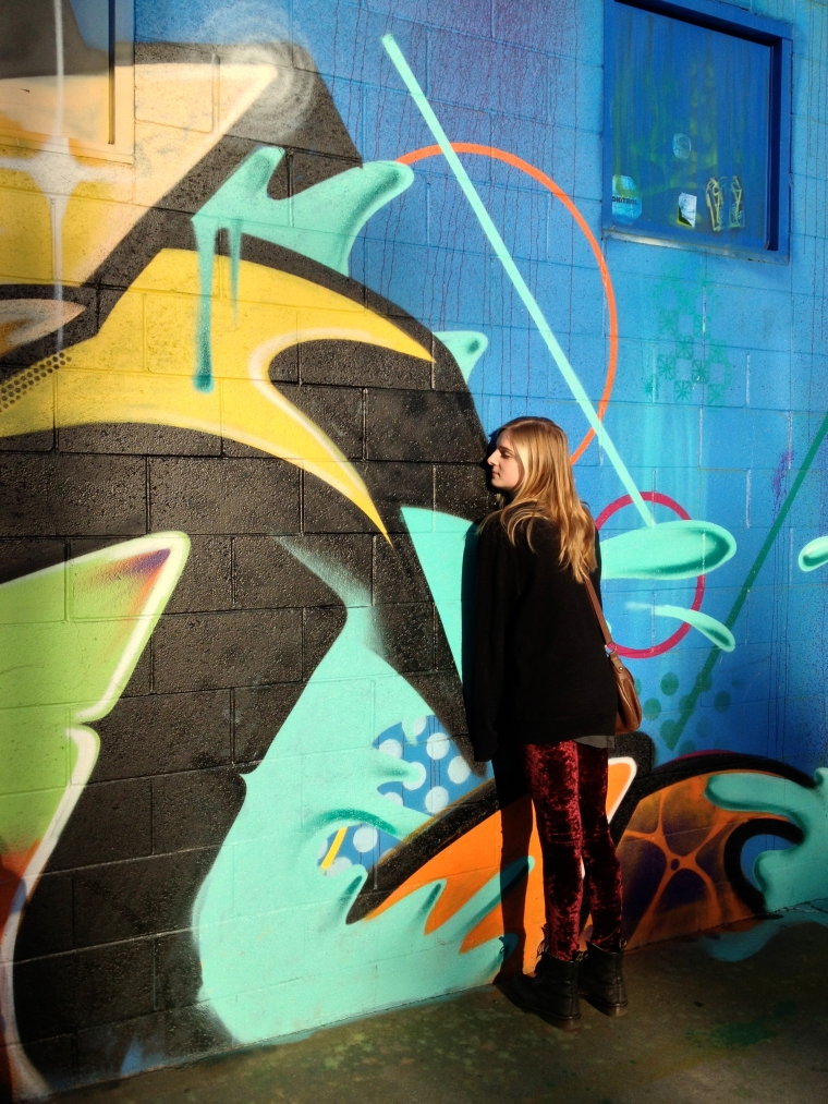 Aislinn and graffiti