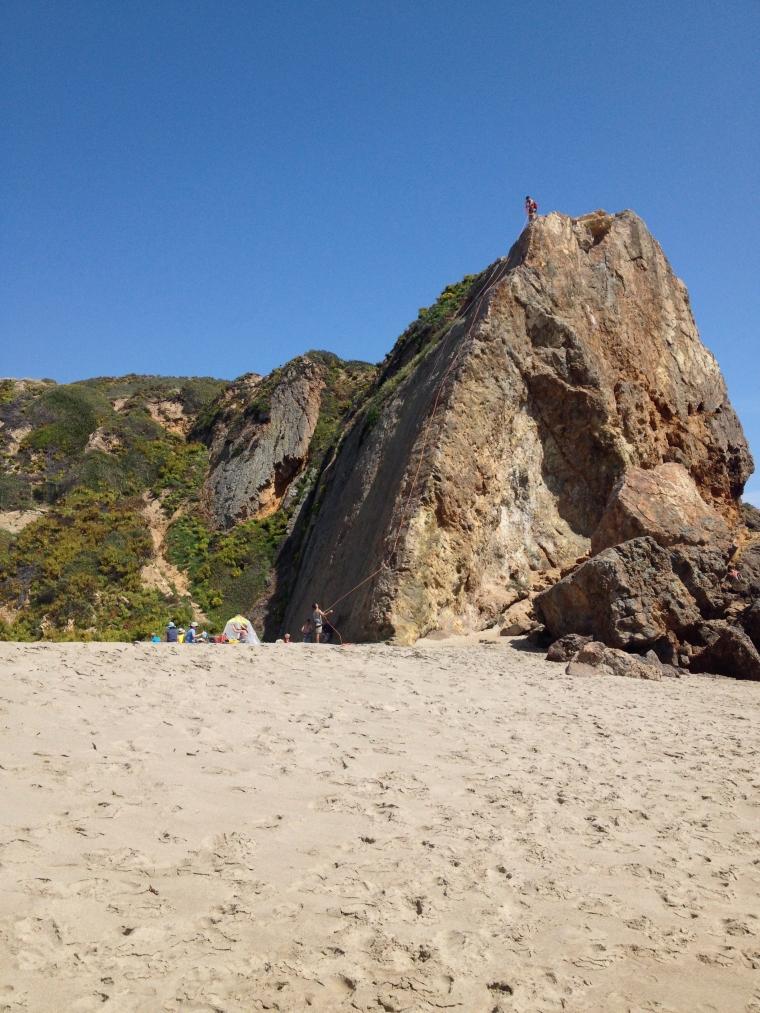 Beach Rockclimbing