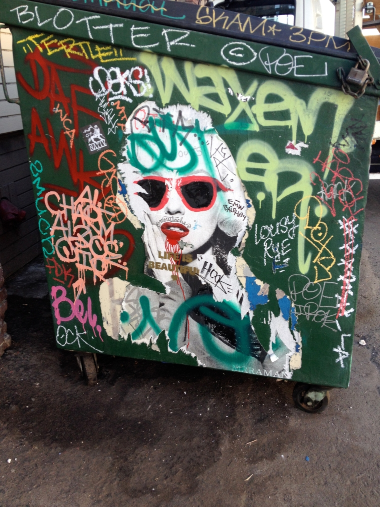 Graffiti dumpster